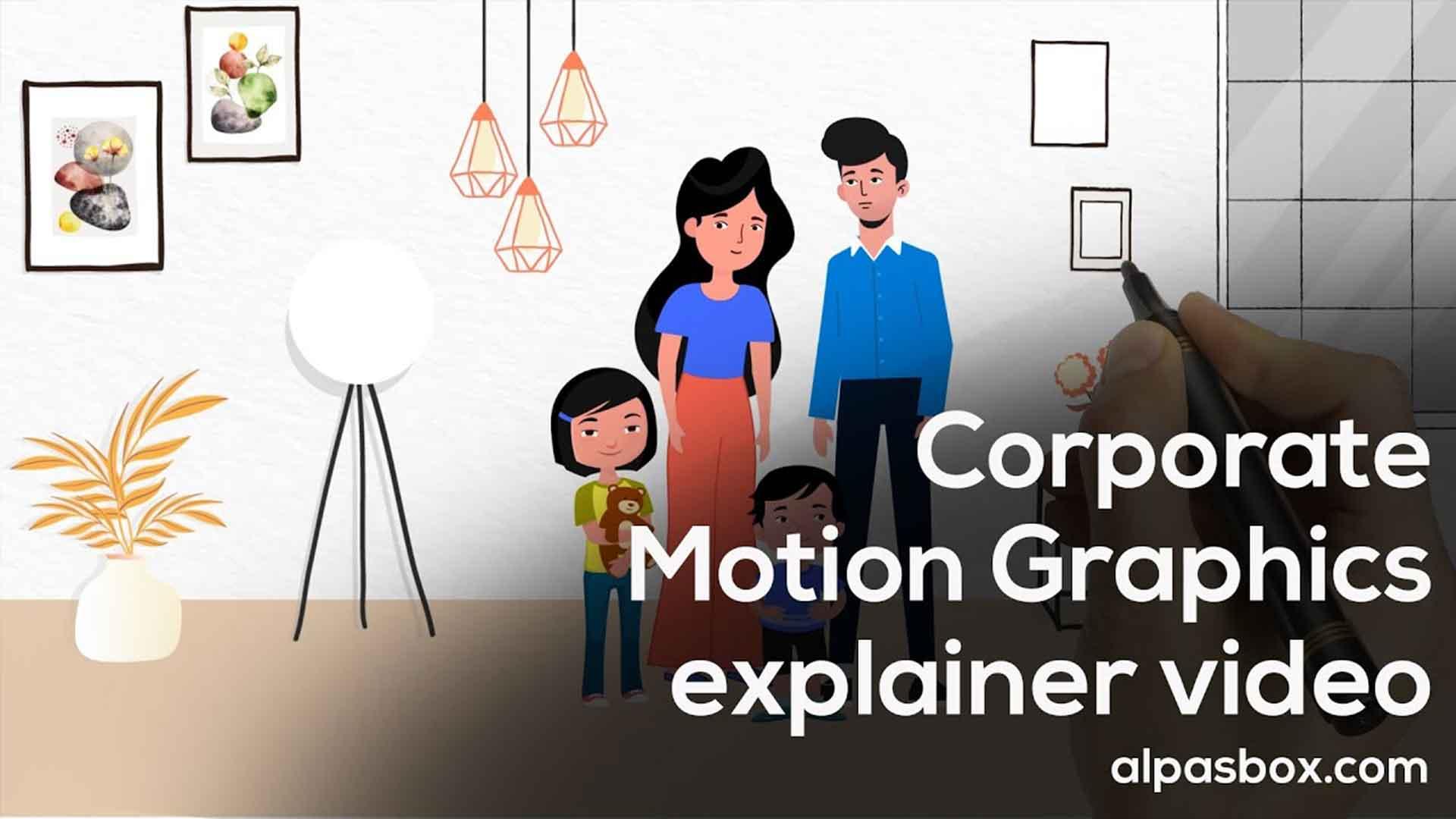 corporate motion graphics explainer video